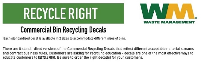Commercial Recycling Decals
