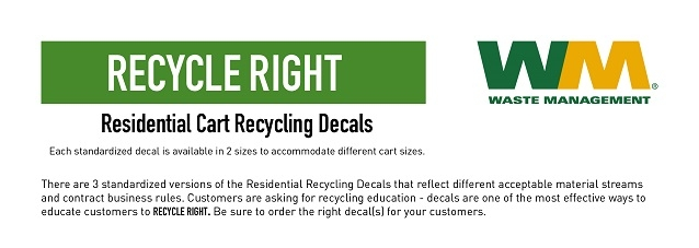 Residential Recycling Decals